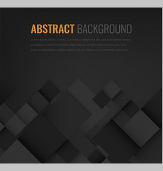 abstract background with black squares business vector image