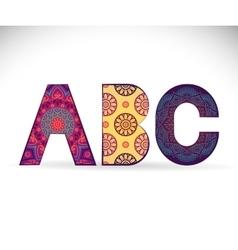 Alphabet Vintage decorative elements vector