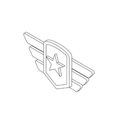 Army emblem icon isometric 3d style vector image
