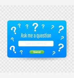 Ask me a question user interface design stock vector