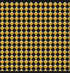 black and gold square seamless pattern modern vector image