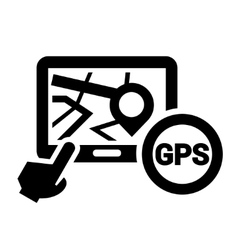 black gps icon vector image
