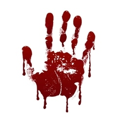 Bloody handprint Horror dirty scary blood vector image