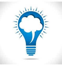 blue bulb with message bubble concept vector image