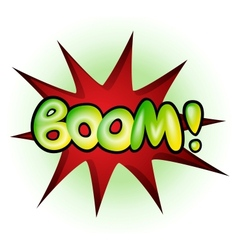 Boom - comic book explosion vector