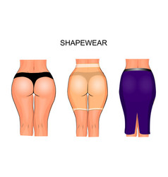 Buttocks and thighs to tight underwear shapewear vector