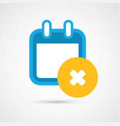 calendar icon - delete vector image