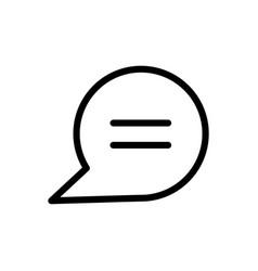 call center service business speech bubble line vector image