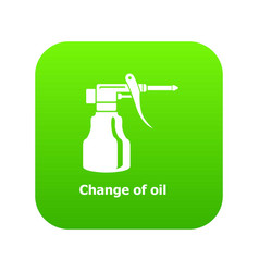 change oil icon green vector image