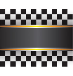 Checkered flag template vector
