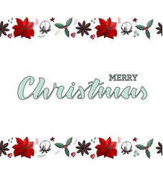 christmas border endless brush vector image
