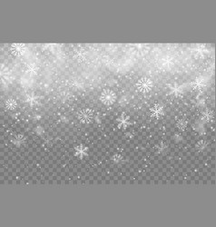 christmas winter snowfall snowflakes vector image