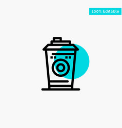 Coffee mug starbucks black coffee turquoise vector