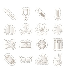 Collection of medical themed icons vector