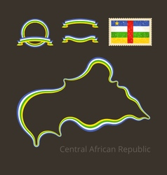Colors of Central African Republic vector image