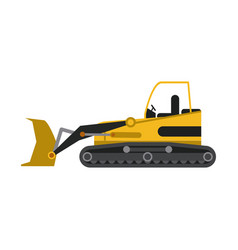 construction backhoe isolated vector image