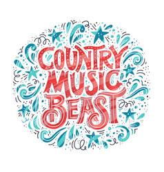 Country music concept vector