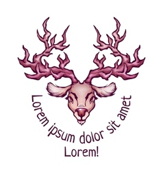 Deer in cartoon style vector