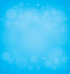 Defocused lights blue abstract bokeh background vector