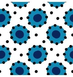 Dymkovo seamless pattern vector image