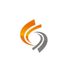dynamic rotation logo design template vector image