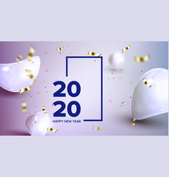 Elegant holiday celebrating 2020 banner vector