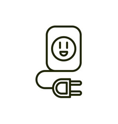 Energy outlet plug environment ecology line and vector