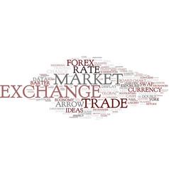 Exchange word cloud concept vector