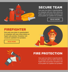 fire protection and firefighter security team web vector image vector image