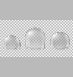 glass domes transparent spheres clean kitchen vector image
