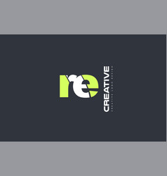 Green letter re r e combination logo icon company vector