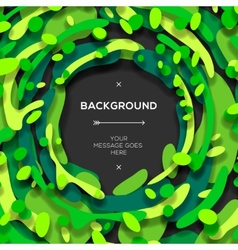 Green modern geometrical abstract background vector image vector image