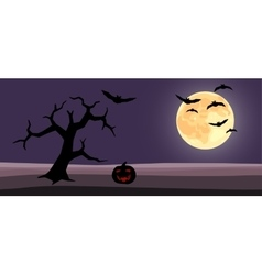 halloween background cartoon vector image