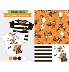 Halloween fashion set vector