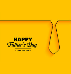 Happy father day background in minimal style vector