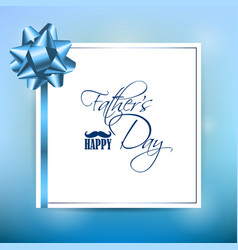 Happy fathers day template greeting card vector