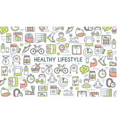 Healthy lifestyle banner vector