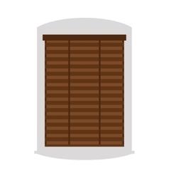 House window isolated on white background vector image