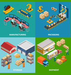 Industrial facilities design concept vector