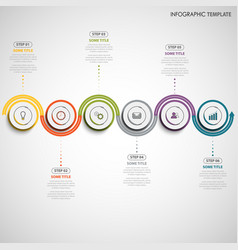 Info graphic with color wave design template vector