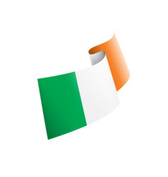 ireland flag on a white vector image