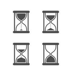 isolated hourglasses icons set vector image