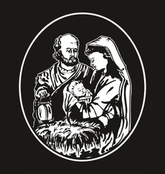 jesus nativity vector image