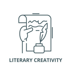 Literary creativity line icon linear vector