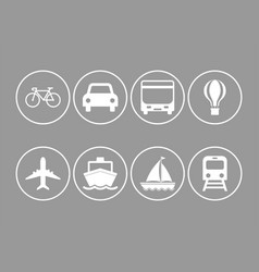 logistics transport vehicle icon vector image