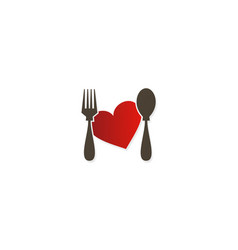 Love food taste logo vector