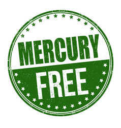 Mercury free grunge rubber stamp vector