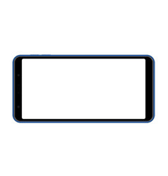 modern smartphone with blank screen vector image