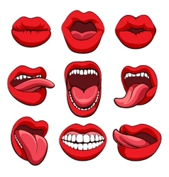 Mouths expressions set vector image