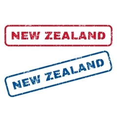 New Zealand Rubber Stamps vector